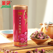 Gold flower import new France rose 45 g canned goods package mail premium herbal tea red rose tea on sale
