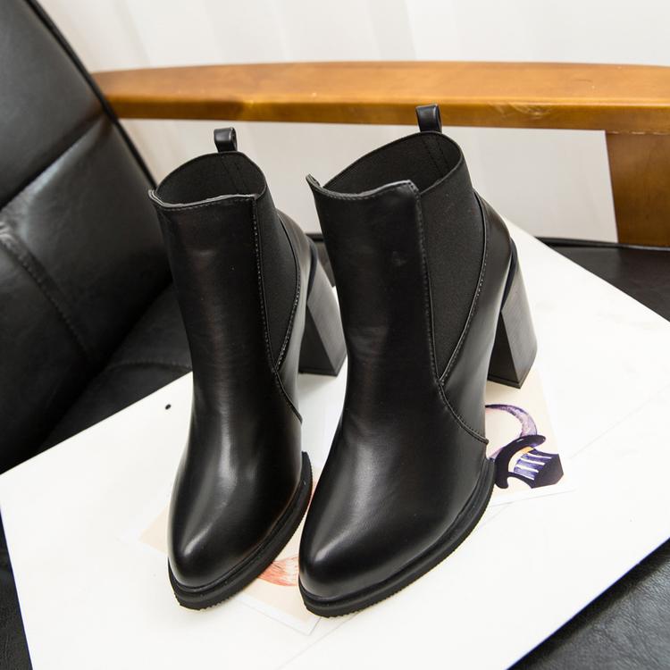 Прилив осенью 2015 девочек в Новой Англии с Мартин сапоги пинетки обувь с коренастый пятки высокие пятки заостренный ботинки женщин короткой трубки