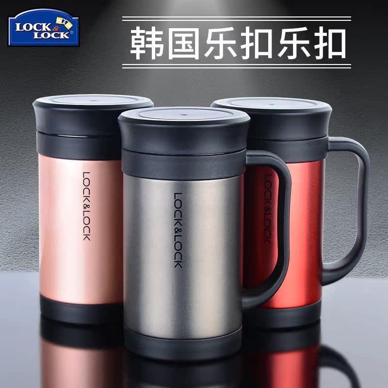 樂扣樂扣保溫杯 不鏽鋼防燙隔熱水杯豪華辦公茶杯杯子直身杯