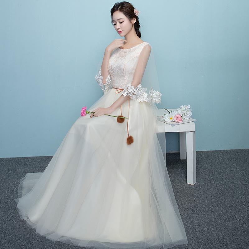 韓式顯瘦優雅宴會伴娘服