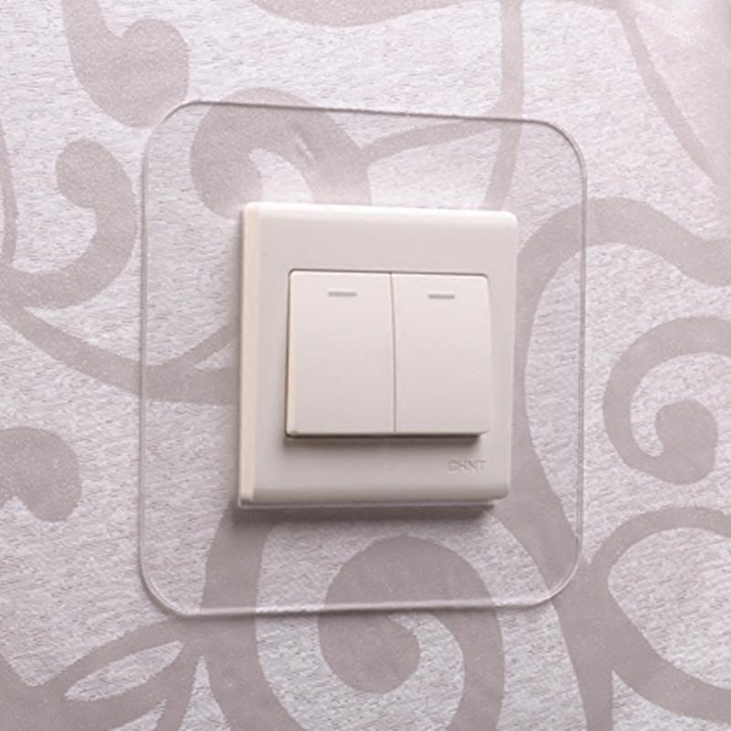 开关贴墙贴保护套塑免洗亚克力现代简约家单双插座贴可移客厅卧室