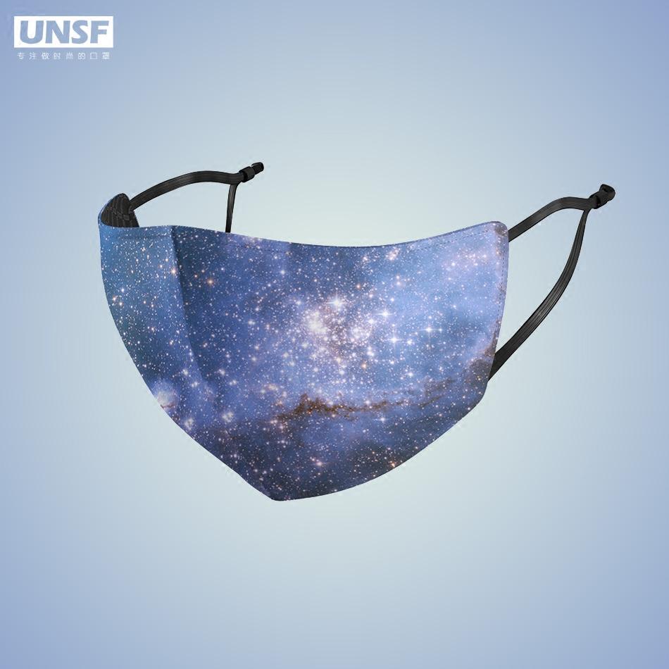 防晒防紫外线透气易呼吸可清洗薄款冰丝成人明星网红星空原创口罩