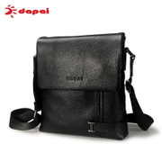 Dapai business bags man bag slung across the package header layer of leather men's leisure shoulder bags tide small backpack leather
