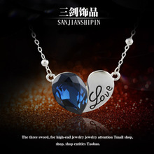 The new luxury crystal hearts sautoir Deserve to act the role of talent brief paragraph collarbone hot water wave chain chain gifts