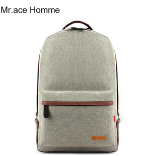 Mr ace bulk Korean tide retro canvas back female shoulders preppy men s sports travel book