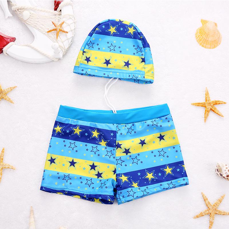 兒童泳褲男童平角泳衣遊泳衣帶帽寶寶泳衣男孩分體泳裝中大童溫泉