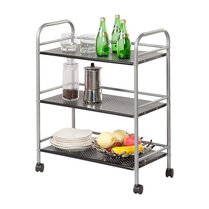 好事達金屬推車帶輪儲物架廚房置物架收納架子7853