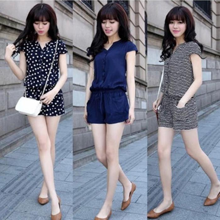 Jumpsuit shorts 2017 new womens summer dress Korean spring and autumn winter trouser skirt high waist Jumpsuit Jumpsuit