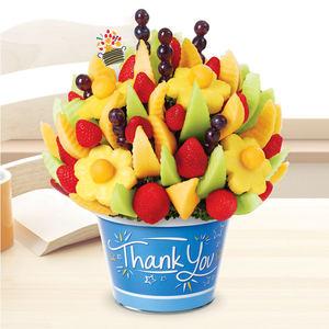 爱蒂宝edible派对感谢水果花篮花束