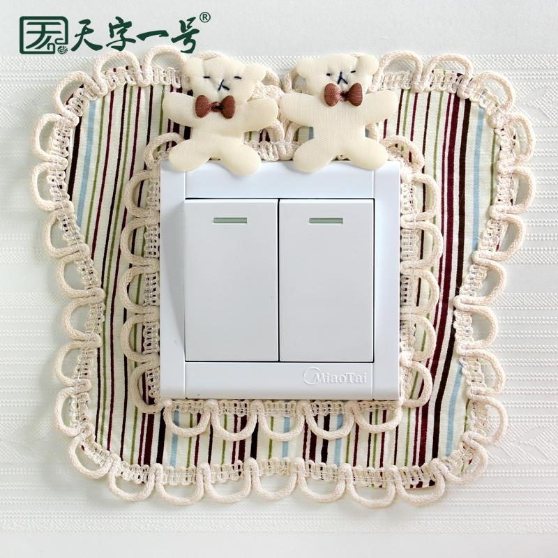 Коммутатор резерва наклейки для стен ткань дважды открытый переключатель защитный кожух творческий гостиная спальня простой современный свет выход декоративный крышка