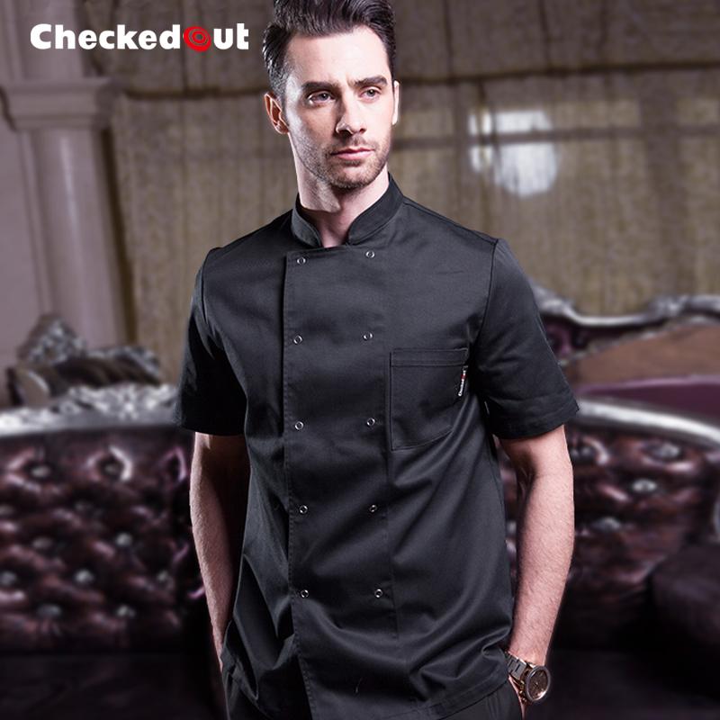 廚師服長袖 男士餐廳酒店飯店廚房黑色西餐後廚 廚師工作服 裝