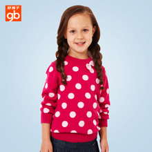 Good boy girl's sweater In the fall of the new children's goodbaby kids children dot long sleeve jacquard sweater