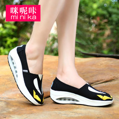 Microphone clicking 2015 increased Korean sports and leisure shoes women fitness shoes with breathable canvas shake in spring and summer shoes
