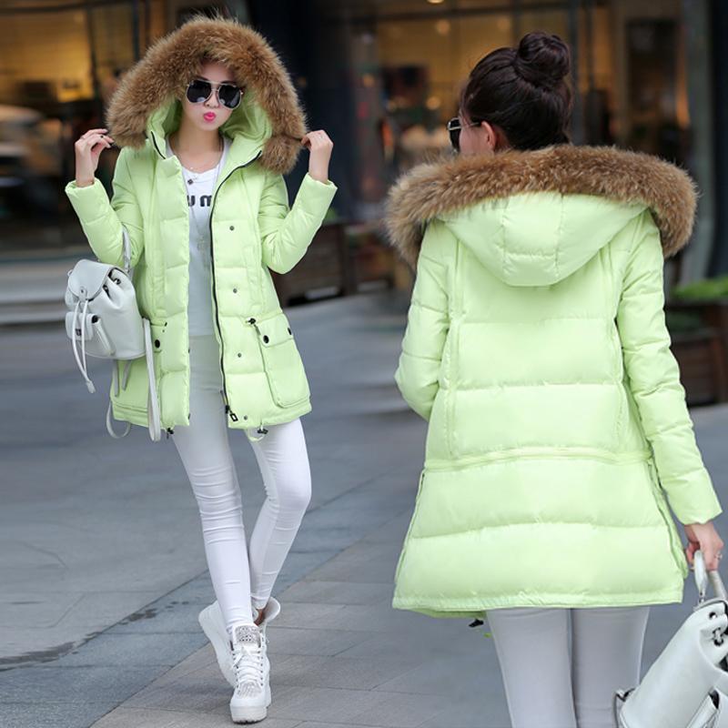 2015 Новый плащ корейской версии девушки длинные тонкие перья мягкие слова сгущает хлопок куртка зимняя куртка