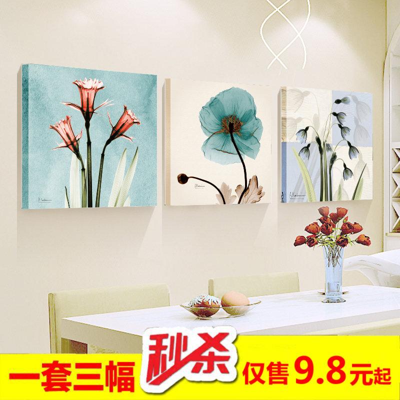 Современный простой гостиная декоративный живопись магазин без рамы картину спальня тройной живопись вход картины диван фон стена живопись