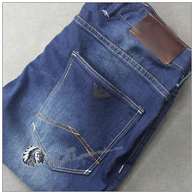 9200 хорошей форме! Классик мыть! Небольшие прямые джинсы мужчин #