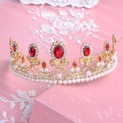 Nice Baroque beauty bride married beauty queen Crown tiara Crown Tiara Ball shows hair accessories