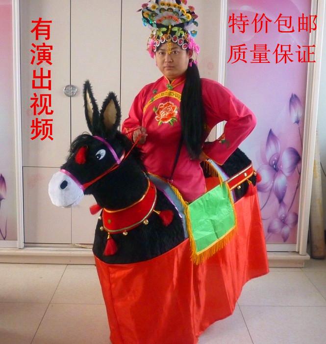 社火杂耍跑驴道具毛驴旱船小跑驴脖子可以活动毛驴舞蹈