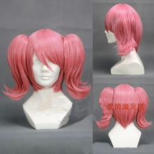 Anime cosplay magic girl deer eye circle a small circle High temperature silk wig three-piece false hair two tigers