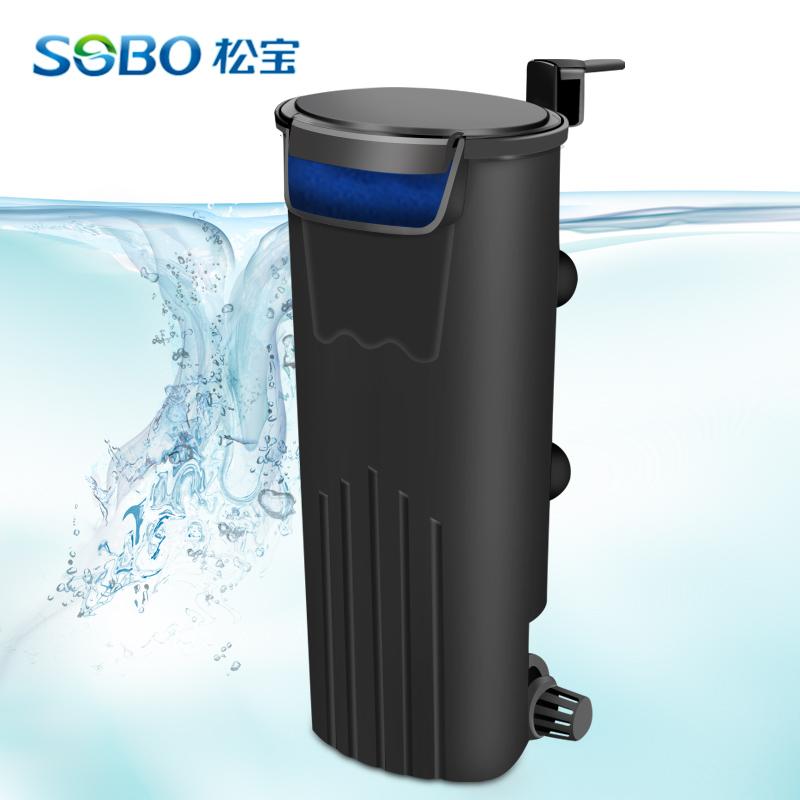 低水位魚缸過濾器 淺水烏龜缸水族箱內置抽水循環靜音泵過濾設備