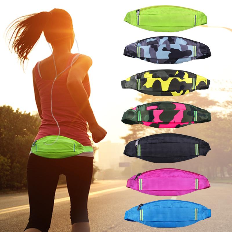 戶外腰包男女士跑步腰包 音樂手機包貼身防盜隱形腰包跑步小包