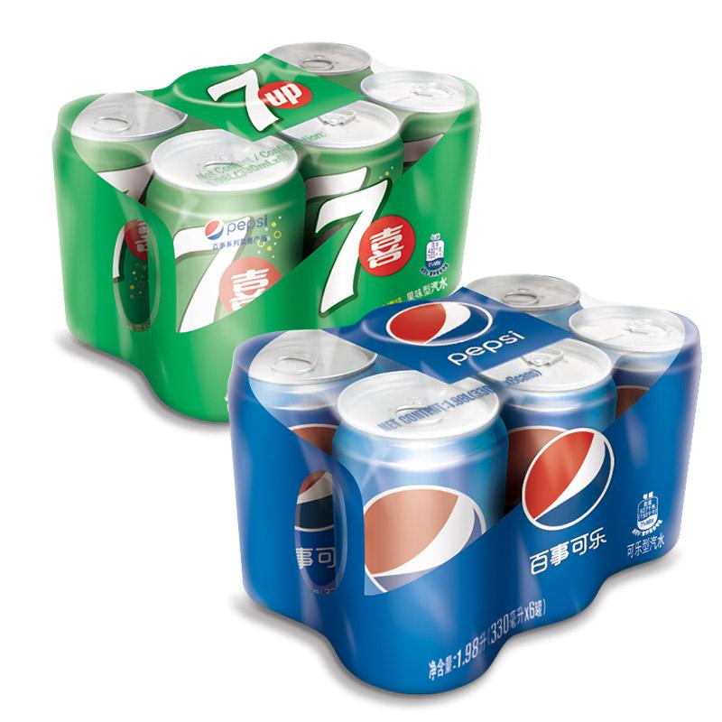 ~天貓超市~百事可樂 七喜碳酸汽水飲料拉罐330ml^~6^~2 聚會