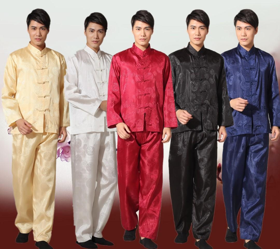 Лет в траурные одежды длинные рукав Мужская китайский отец с ретро мужской костюм упражнения костюм костюм