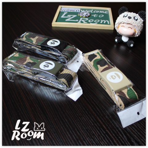Lzroom original fashion brand camouflage ape canvas belt trend student