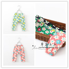 On the new 2014 summer wear han edition children baby girls flowers pure cotton elastic 7 minutes of pants joker shorts