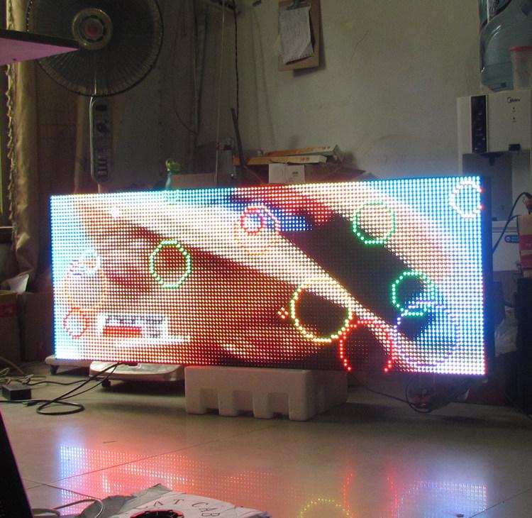 双面防水高亮全彩P10灯箱屏 支持天气预报视频动画 双面LED显示屏