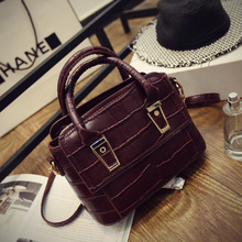 2015 new tide restoring ancient ways the crocodile grain female bag lady handbag document one shoulder bag inclined across a small bag