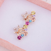 Japanese and Korean fashion jewelry package email bow temperament ear acupuncture in Korean version of the original Crown Diamond Stud Earrings earring girl cute