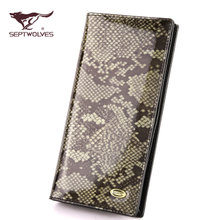 The new 2015 ladies wallet authentic septwolves ladies wallet euramerican fashion leather wallet wallet vertical model