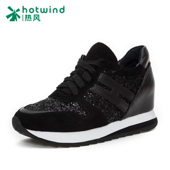 Increased hot air 2016 sequins shoes versatile casual shoes laces in shoes women from deep H11W6102
