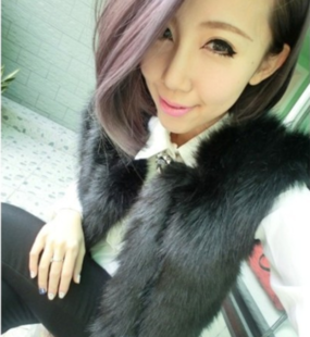 Winter 2015 new Korea imported imitation leather grass fox fur vest long section of the new Korean version of the fall and winter