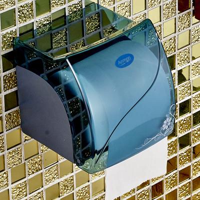 免鑽孔浴室紙巾架粘貼衛生間浴室防水廁所廁紙盒塑料卷紙紙巾盒架