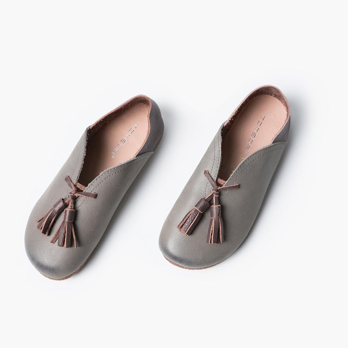 限10000张券tombor奶奶鞋平底复古软皮手工单鞋