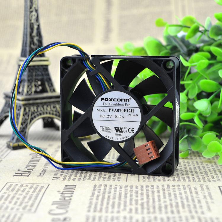 富士康 FOXCONN PVA070F12H 12V 0.42A 7CM 7020 4线PWM CPU风扇