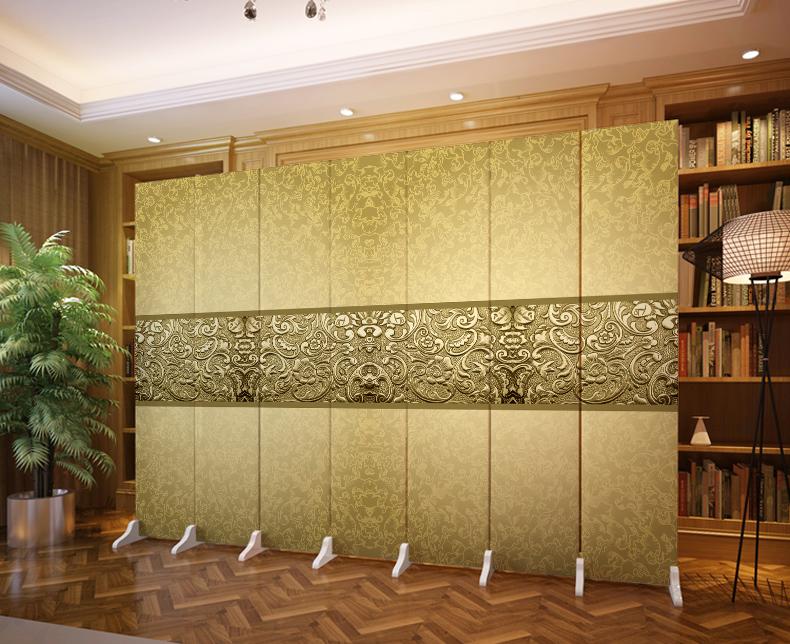 屏風隔斷 折屏酒店簡約中式客廳玄關 臥室實木移動折疊定製