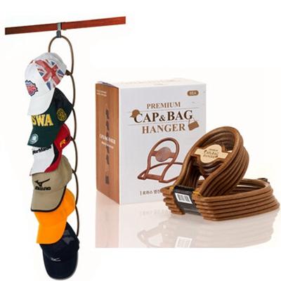 韩国正品 居家 仿木纹帽子专用挂架6P装/收纳整理架 树脂帽架
