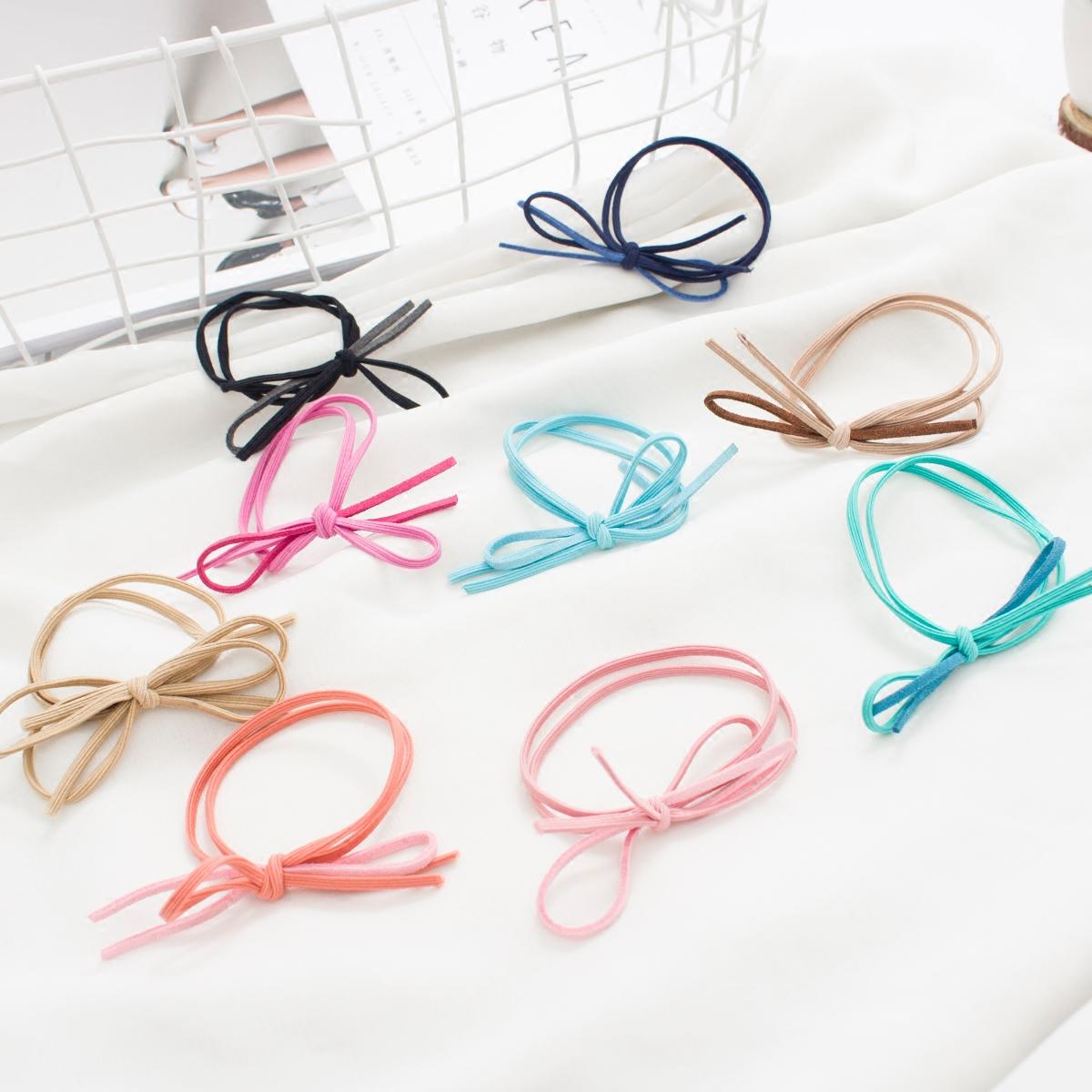 Корея простой галстук-бабочка волос круг послать веревку корейский наконечник волосы ластик мышца голова кобура головной убор средства для волос украшения высокоэластичный