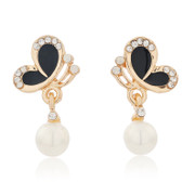 Love mail jewelry IRIS pendant earrings girls Korea temperament Stud Earrings fashion celebrities women
