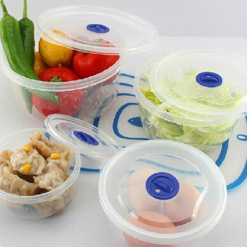 Revitalizing date kitchen food sealed box sealed can plastic preservative box 4-piece microwave refrigerated lunch box