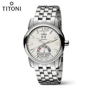 梅花TITONI大师系列自动机械瑞士手表钢带男士腕表手表94888S-297