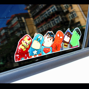 Graffiti stickers car scratches hellaflush car styling 3M sticker Avengers tilted crooked neck