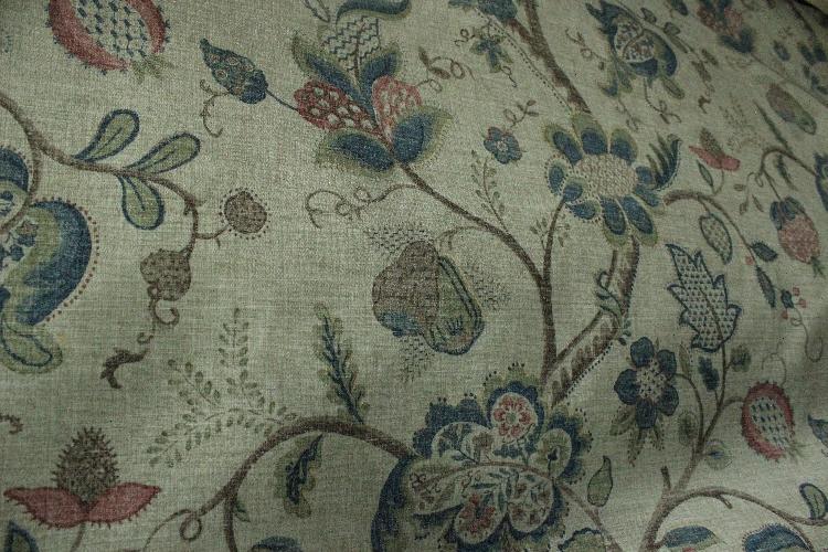 Hanfu Europe утолщенной малые поля дышать сладкие цветочные хлопок, лен куртка рубашка Обои диван стол ткань платье одежды ткани