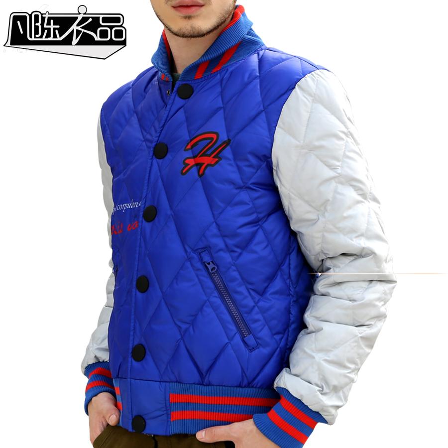 Чэнь Yipin Корейский досуг короткие двухцветный мужской куртки воротник тонкий слой молодежи мягкой колледж