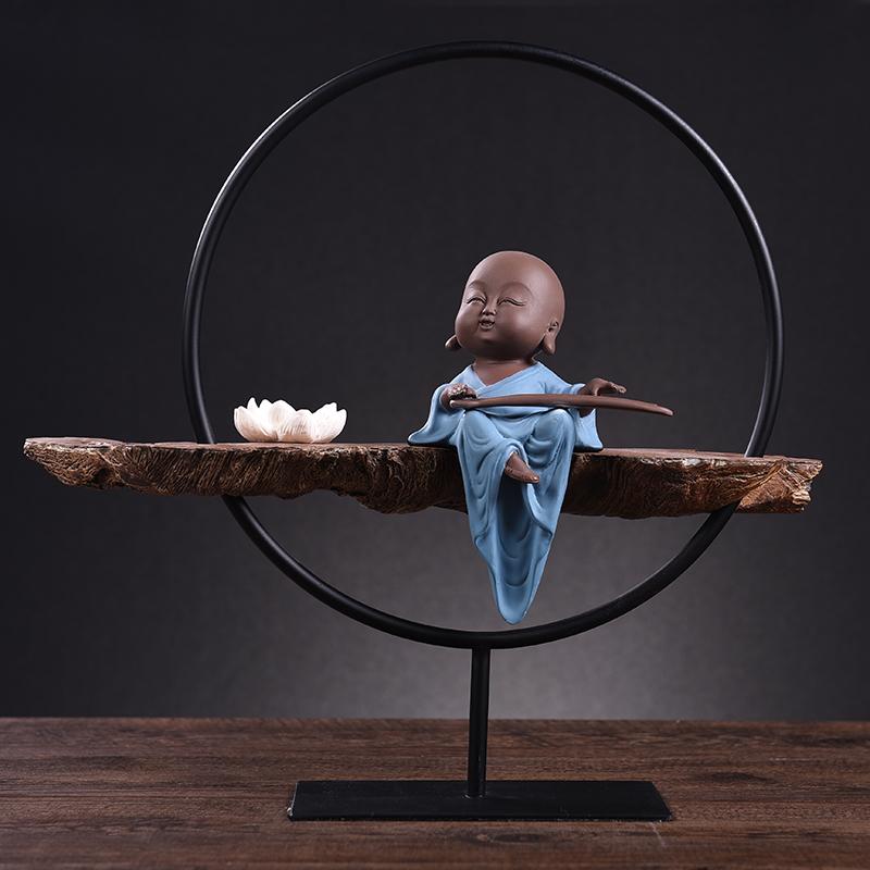 中式禪意佛創意個性人物擺件