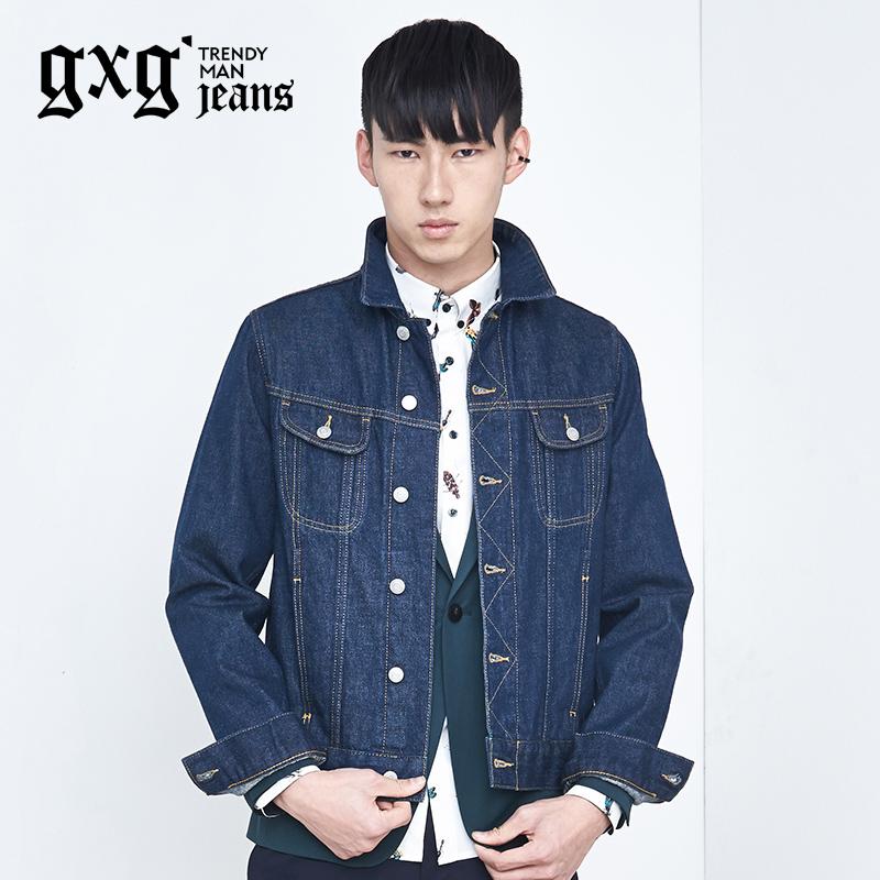 特惠gxg jeans男士 牛仔夾克 百搭純棉修身外套秋上新53621256