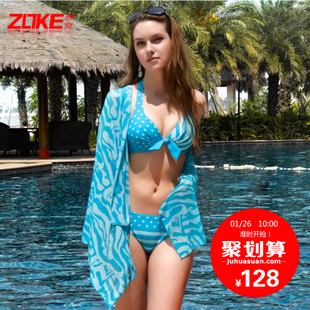 European and American spas bikini swimsuit small chest gather steel prop female three piece big yards sexy bikini swimwear